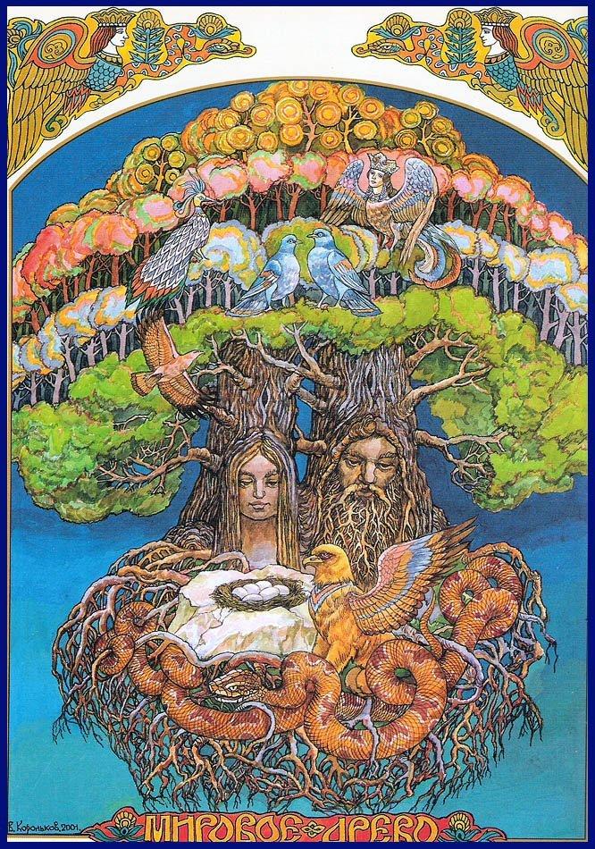 Мировое древо жизни в славянской мифилогии