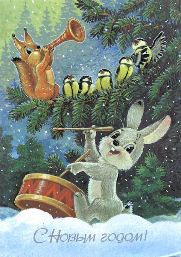 Веселые жители леса гораздо лучше передают атмосферу праздника чем заграничные носки - свечи и полосатые леденцы
