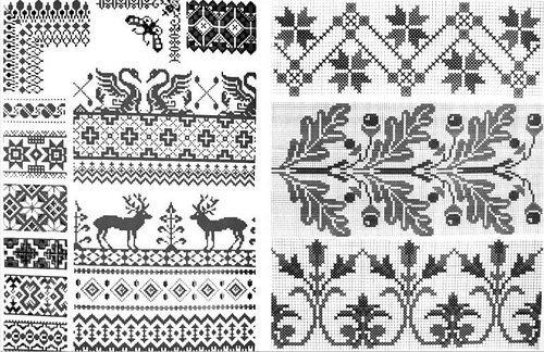 в славянской вышивке были: