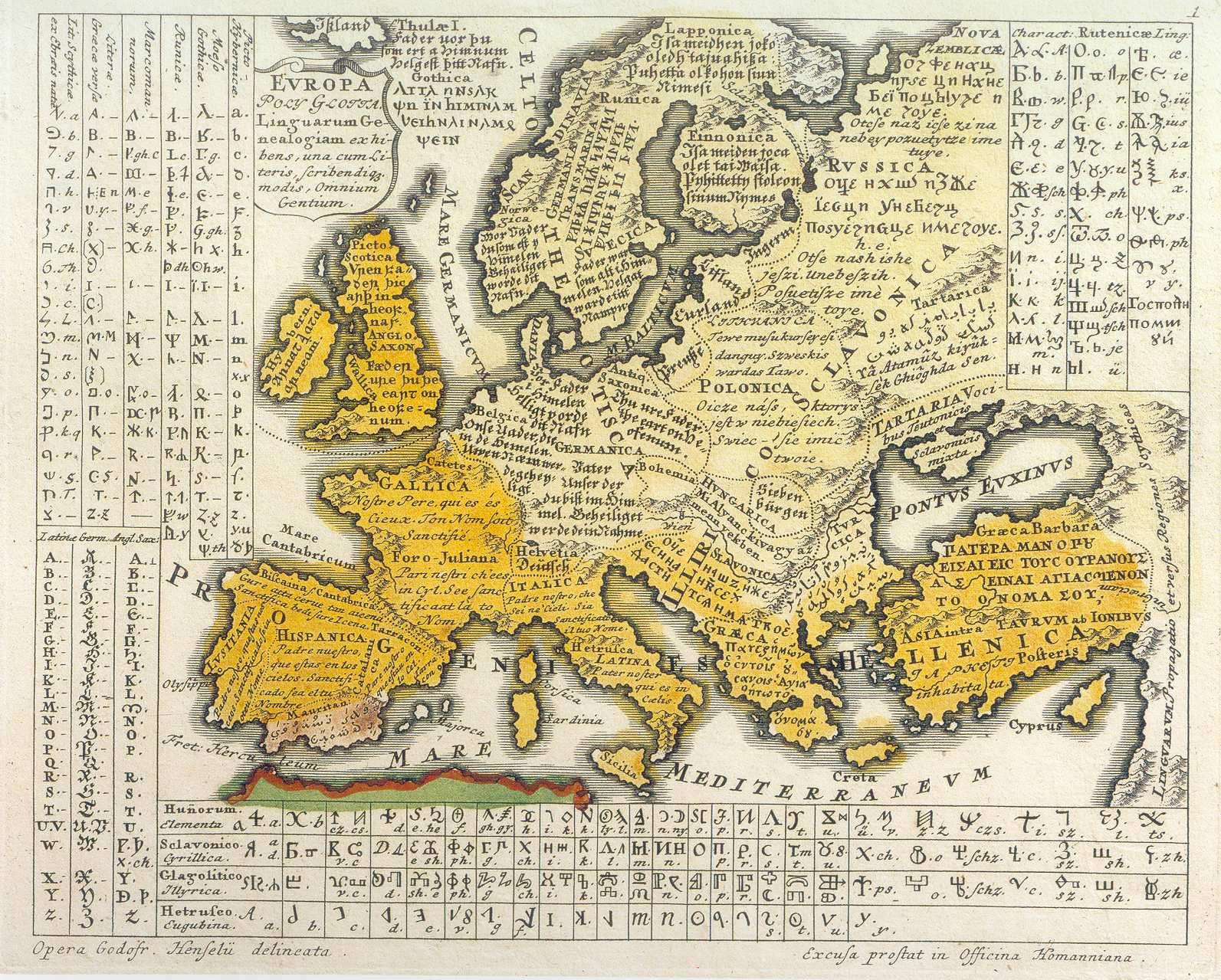 Лингвистическая карта Европы