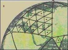 """Рис. 3. Карта """"Европейского"""" треугольника с первой и второй подсистемами ИДСЗ."""