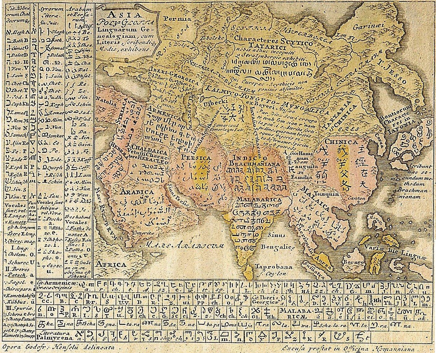 Лингвистическая карта Азии
