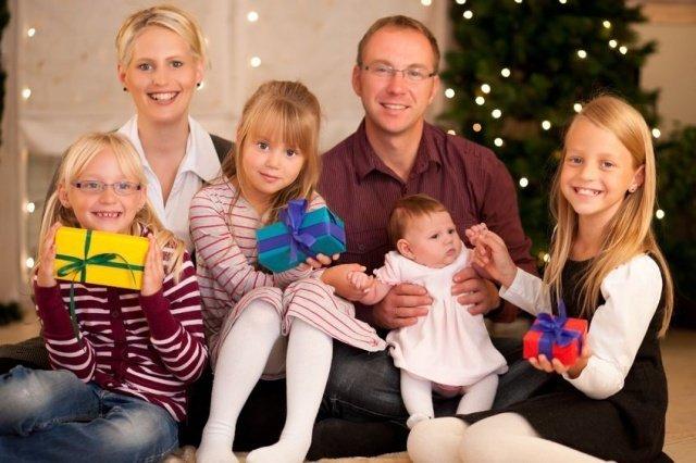 Многодетные семьи и подарки к новому году