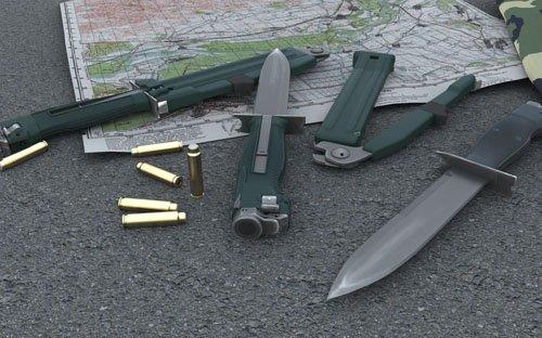 Нож разведчика стреляющий НРС-1 (изделие 6П25)