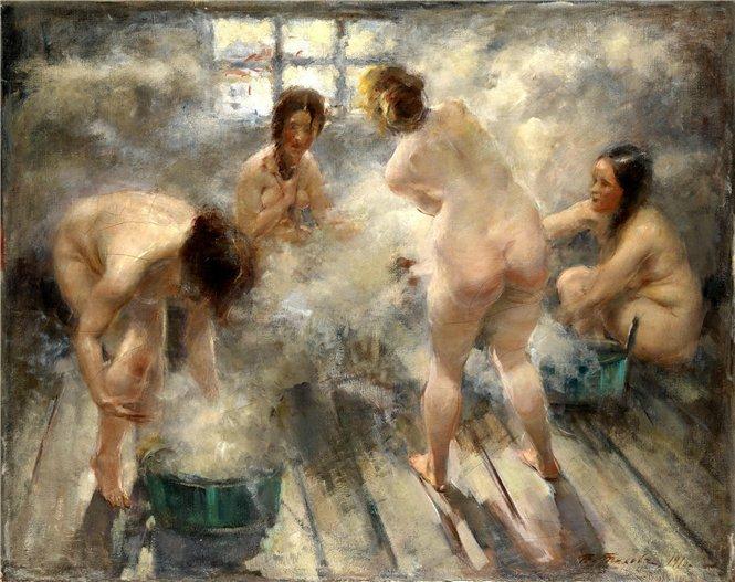 русские баби в бане