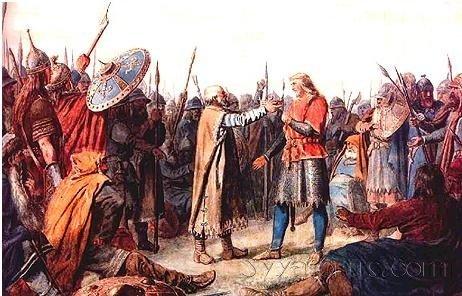 Олаф I, первый христианский король Норвегии, в детстве несколько лет бывший невольником.
