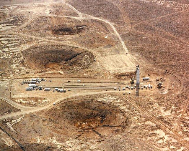 Примеры воронок от ядерных взрывов на Семипалатинском полигоне