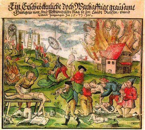 (Людоеды в Литве и Московии, гравюра 1571 года)