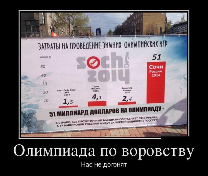 Путинская Олимпиада - ограбление России