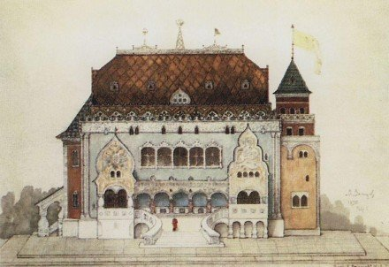 В.Васнецов. Проект русского павильона на Парижской выставке