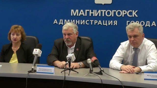 Жданов В.Г. Пресс конференция 2013 г. Магнитогорск