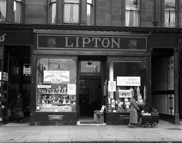 Компания Lipton начиналась как обычная бакалейная лавка.