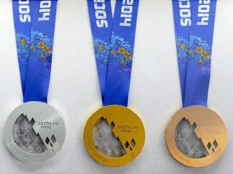 Медали XXII зимних Олимпийских игр прибыли в Сочи.