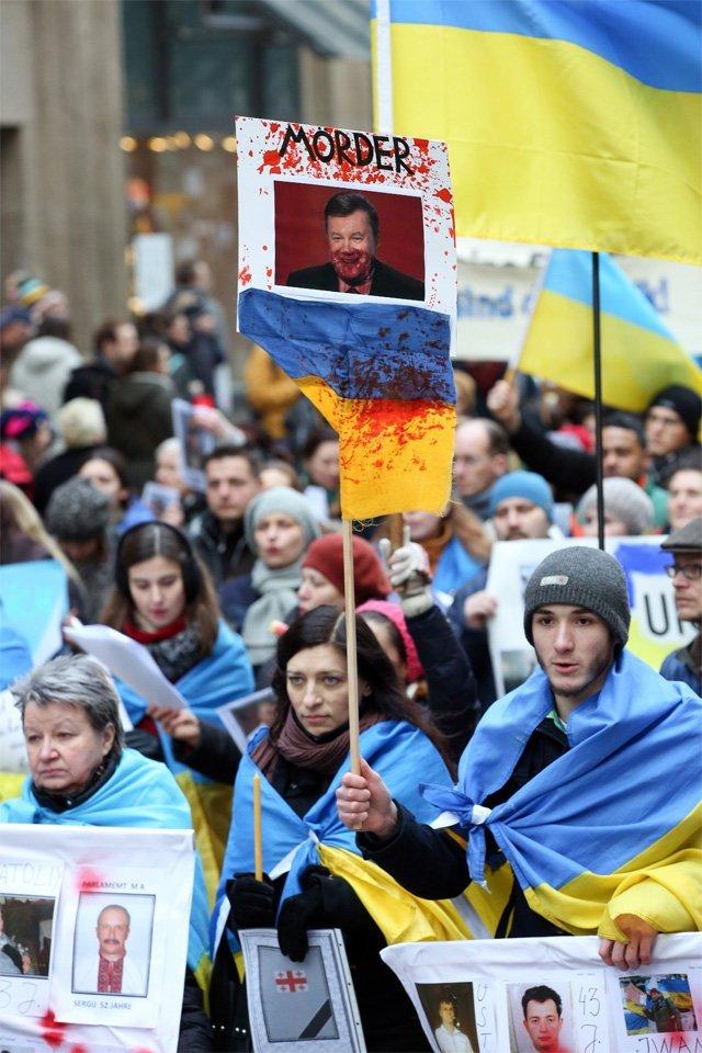 Акция протеста на Украине.