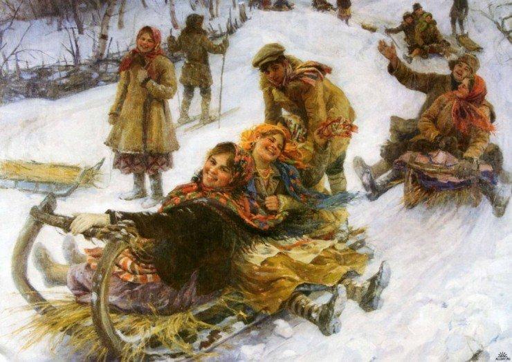 Сычков Ф.В. Катание с гор.