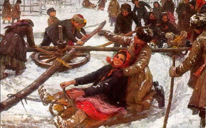 Сычков Ф.В. Деревенская карусель. 1910 г.