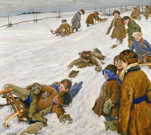 Александр Моравов. Зимний спорт. 1913 г.