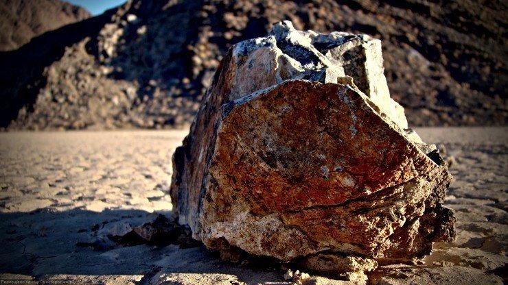 the rolling stones. Death Valley Racetrack Playa, CA