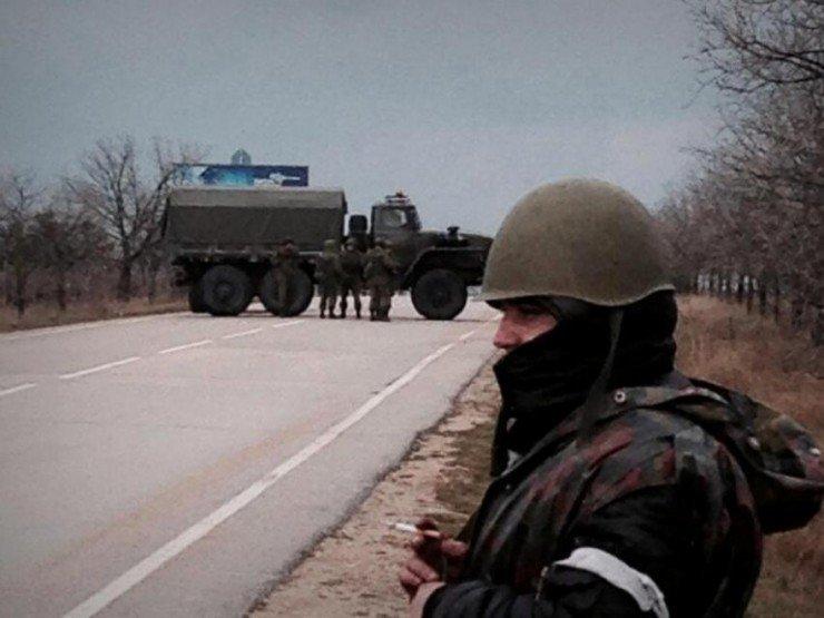 Ситуация на границе Крыма и Украины осложнилась