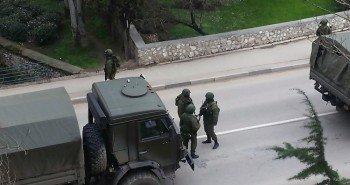 Украинские пограничники контролируются российскими отрядами