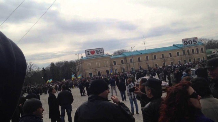 07.04.2014 Харьков, разгон майдаунов