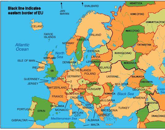 Перед вами – карта Европы,