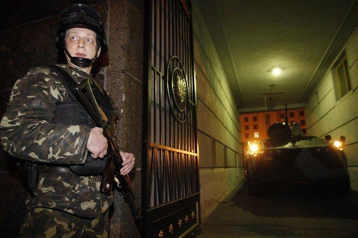 Управление госохраны провело военные учения в Киеве