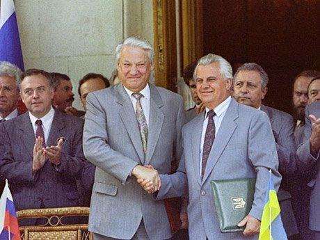 Борис Ельцин и Леонид Кравчук