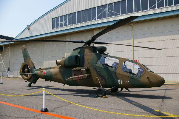 OH-1 «Нинзя» — разведывательный вертолёт, целиком разработанный японскими предприятиями. Всего на вооружении Японии находится 45 таких машин.