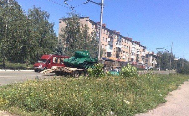 Танк Т-34-85 из Дружковки.