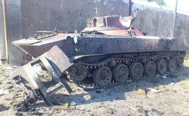 Шахтерск. Сначала горели дома жителей Шахтерска, потом горели те фашисты, которые их уничтожали.