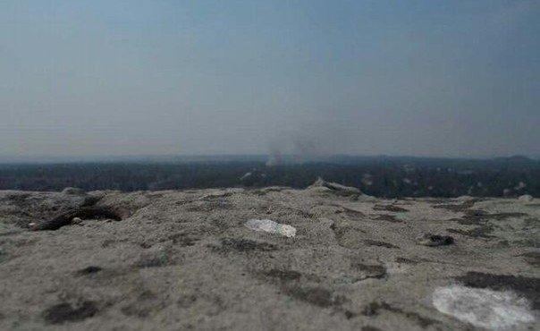 Опять горит горисполком в Шахтерске. 1 августа.