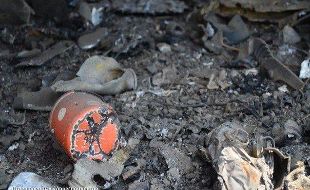 13.08.14. Уничтоженная украинская бронетехника под г. Ясиноватая.