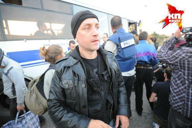 Писатель Захар Прилепин также присутствовал при обмене пленными