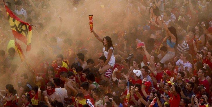 Spain Soccer Euro 2012 Celebrations