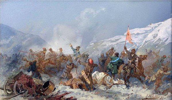 «Бой с пугачевцами» Николая Каразина.