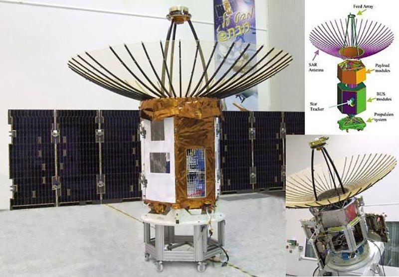 Разведывательный спутник, оснащённый радаром с синтезированной апертурой «Polaris» ака Офек-8 (IAI)