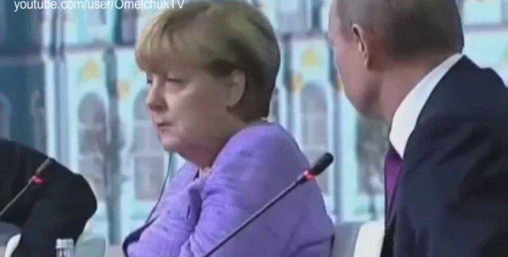 Как дурят украинцев: «Реакция Меркель на шутку Путина» Видео
