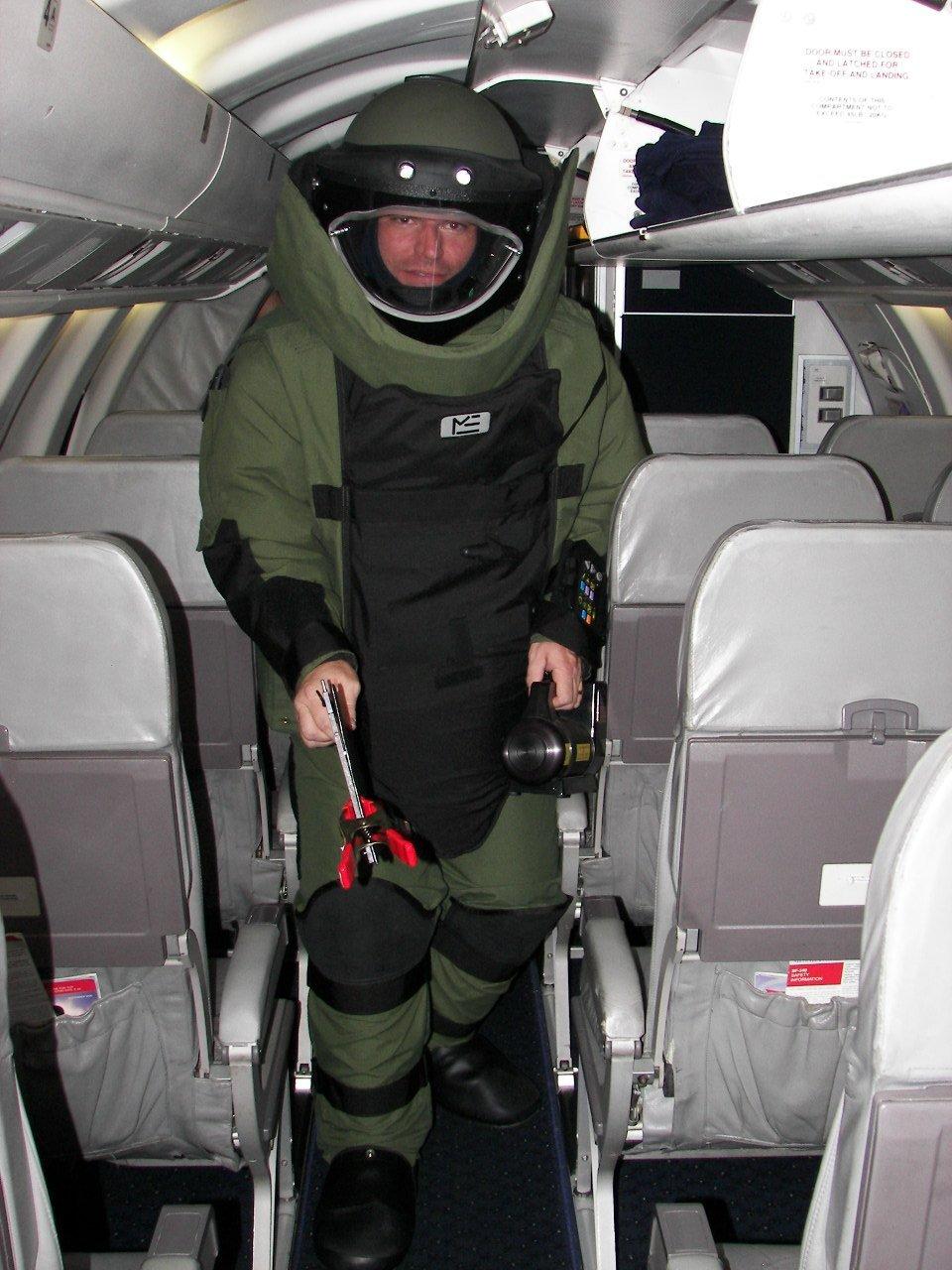 airport bomb man