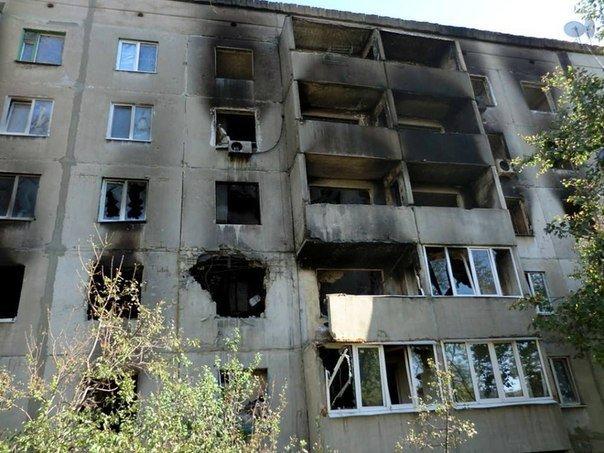 Первомайск после обстрелов украинской армией.