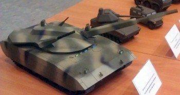 Макет новейшего российского танка «Армата» с закрытого показа.