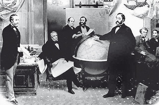 Подписание договора об уступке Аляски 30 марта 1867 года. Фото: public domain