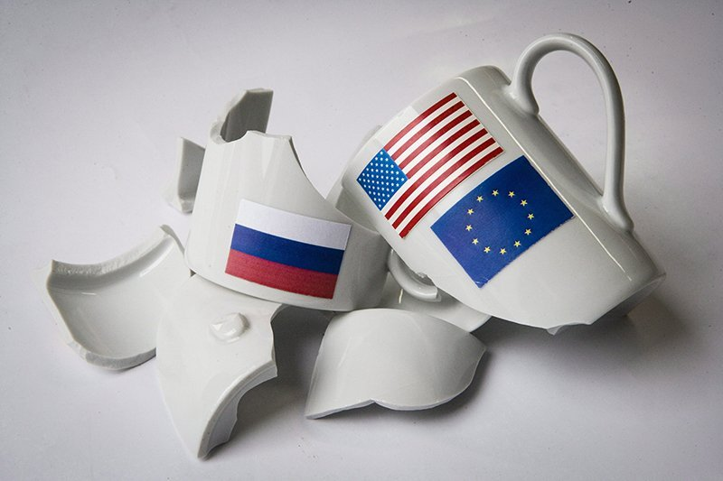 Symbol Photo Sanctions Of The EU And USA Against Russia.