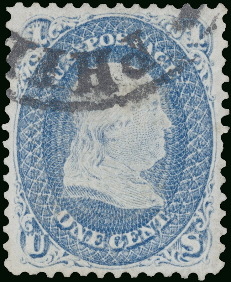 Stamp_US_1868_1c_Z_grill_Gross
