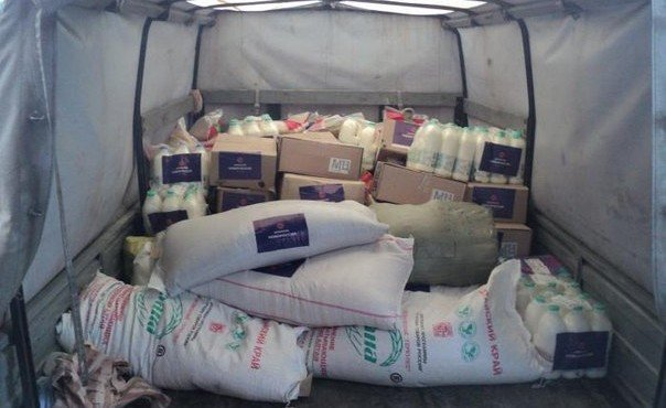 Отправка гуманитарной помощи для подразделения ГУДВИНА (МВД Донецка) г. Макеевка, 20 декабря
