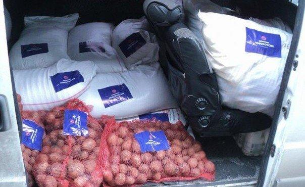 Отправка гуманитарной помощи в г. Лутугино и целевого груза в г. Луганск, 20 декабря.