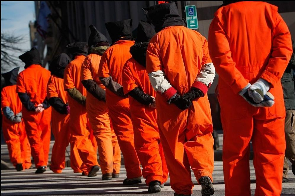 Protestors Mark 8th Anniversary Of Opening Of Gitmo Prison At White House