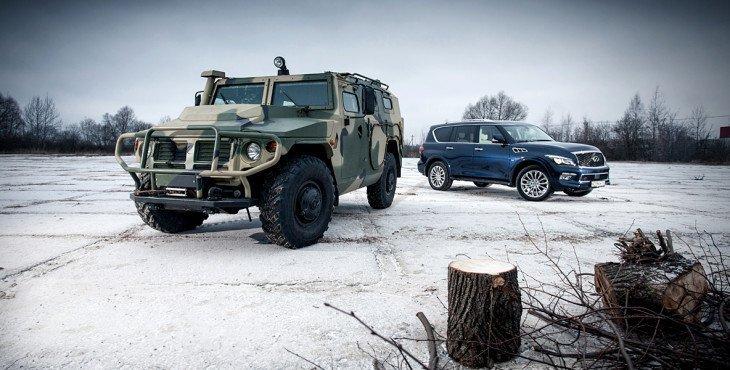 ГАЗ «Тигр» против Infiniti QX80