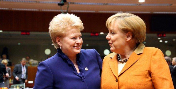Неожиданно выяснилось, что Ангеля Меркель не такая уж и подружка Дале Грибаускайте.
