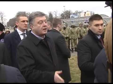 Порошенко наорал на митингующих в Борисполе